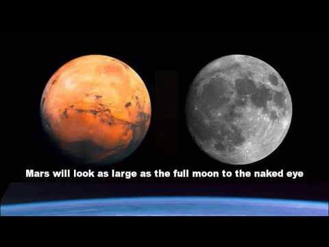 Moon same size as mars the mars hoax unreal facts