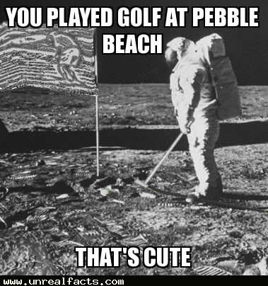 there are two golf balls on the moon