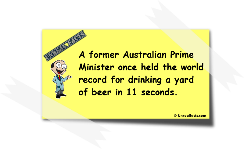 australian prime minister yard of beer