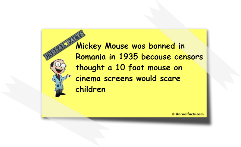 mickey mouse banned in romania