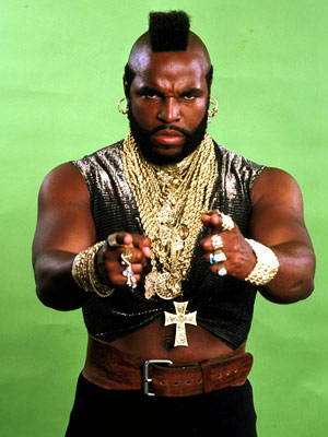 why does mr t wear gold chains