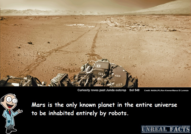 mars inhabited by robots