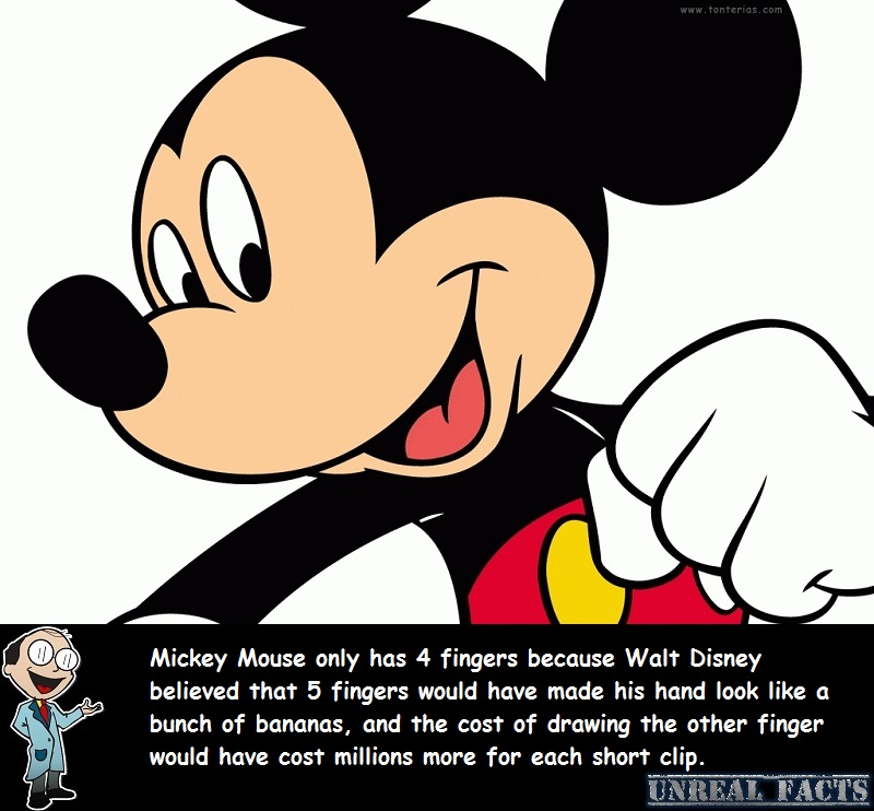 how many fingers does mickey mouse have