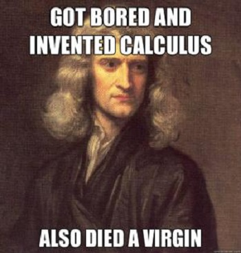 isaac newton died virgin