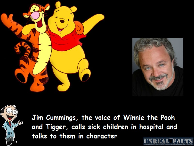 voice of winnie the pooh calls sick children